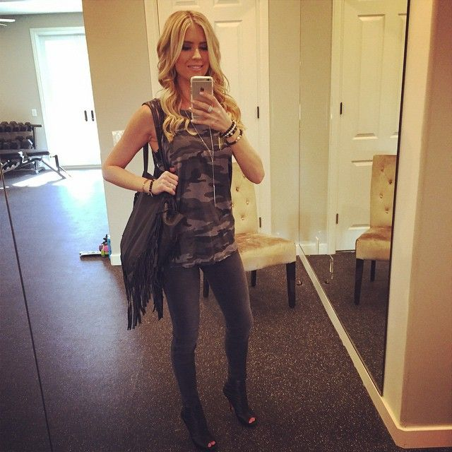 Christina El Moussa And Boyfriend Doug Spedding Split. Loving My Beachy  Waves Done By @shanrbeauty This Morn... And My Super