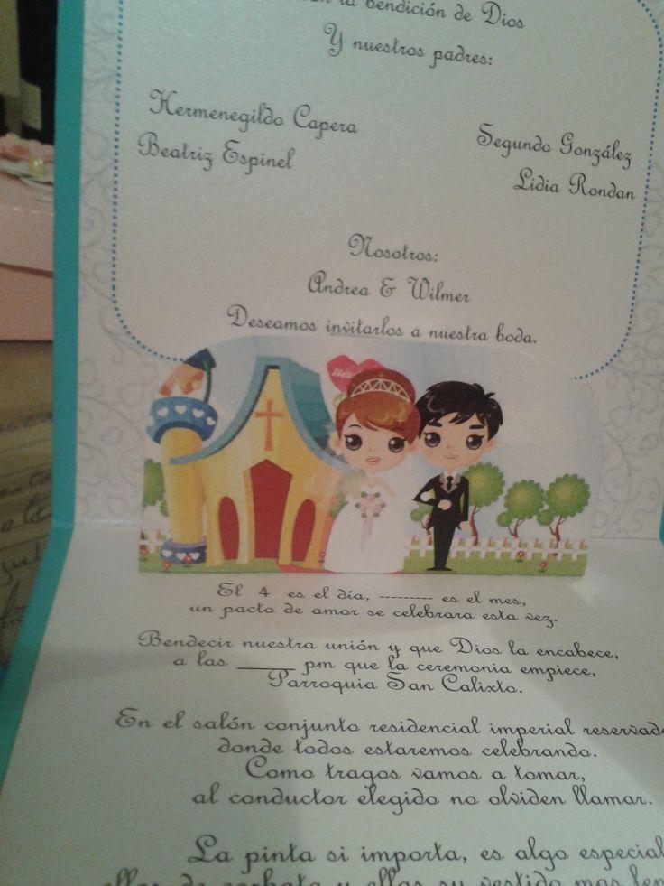 Invitacion animada boda