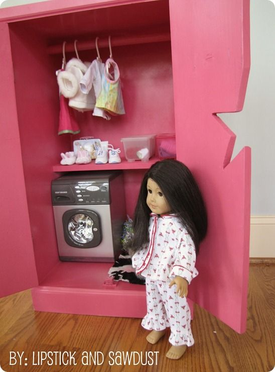 Knockoff American Girl Doll Storage Cabinet