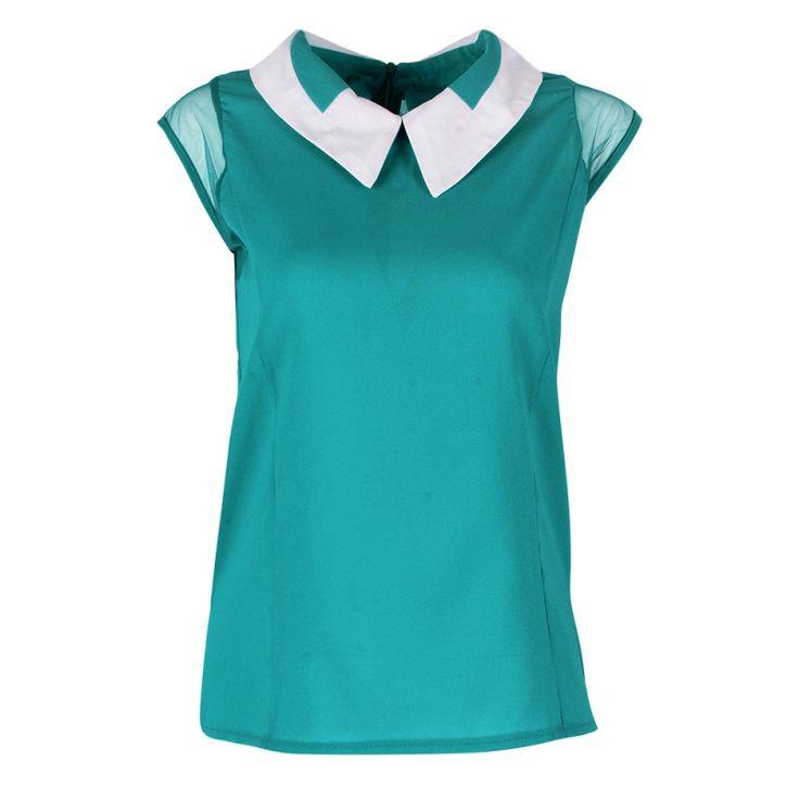 Women 2017 Summer Loose Chiffon OL blouses Sleeveless Vest Tops Blouse camisa feminina Plus Size