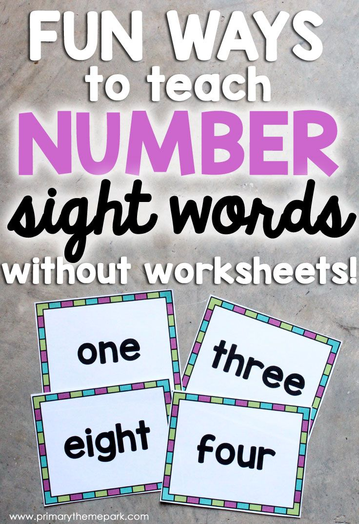 Best 25 number words ideas on pinterest kindergarten math fun ways to teach number sight words without worksheets robcynllc Images