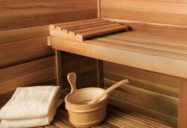 """...a Finnish style sauna.  Finnish saying: """"Jos ei viina, terva tai sauna auta, tauti on kuolemaksi."""" (""""If booze, tar, or the sauna won't help, the illness is fatal."""")"""