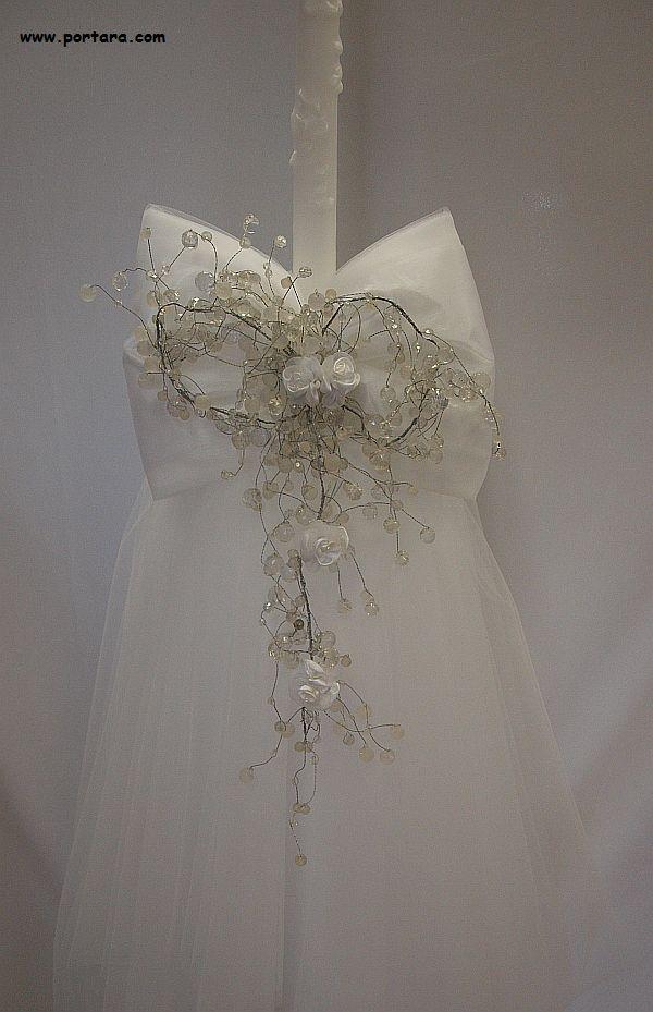 Color Crystal Beauty Orthodox Wedding Candles ~ Lambathes :: Orthodox Wedding Ceremony Candles-Lambathes :: Weddings/Bridals :: Portara Gallery