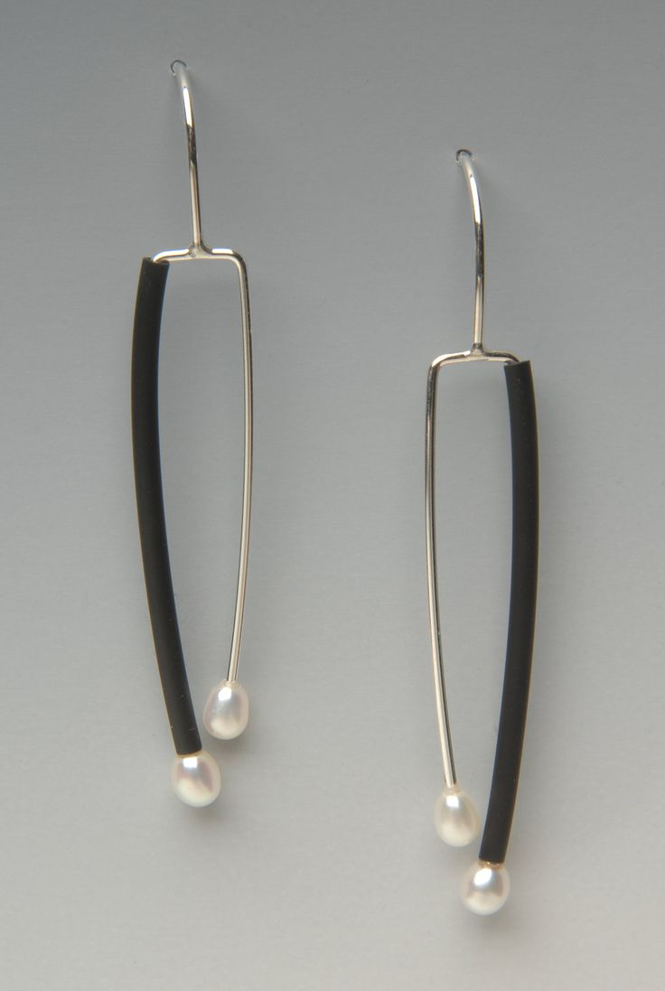 Small Promise by Lonna Keller. Neoprene rubber, freshwater pearls and sterling silver