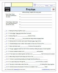FREE worksheet for the Bill Nye, the Science Guy * - Friction Episode Free Worksheet / Video Guide
