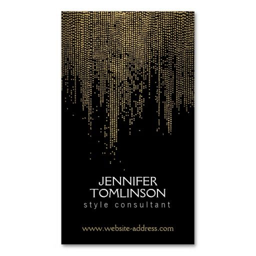 166 best pattern business cards images on pinterest business card elegant golden dot pattern on black business card template reheart Images