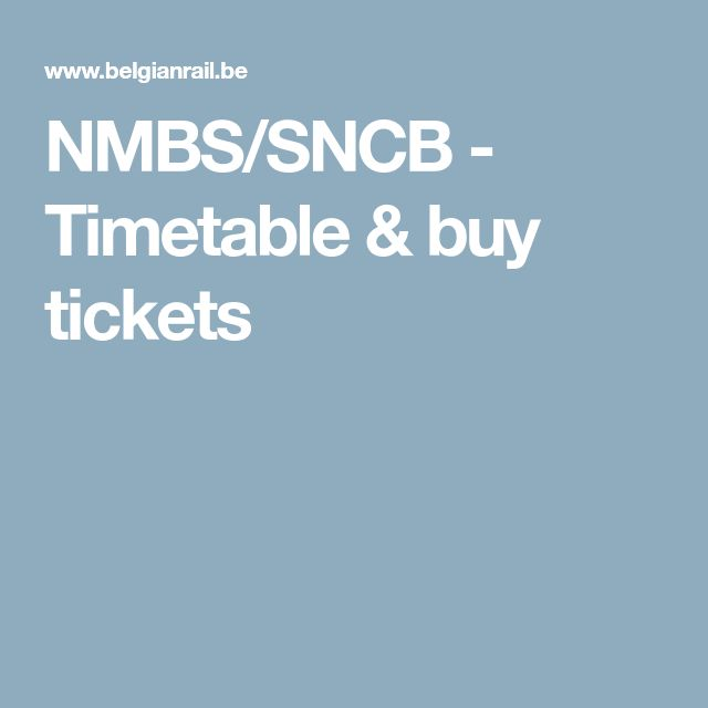 NMBS/SNCB - Timetable & buy tickets