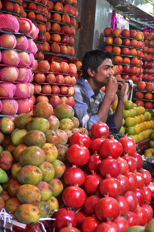 Fruit Wallah - Devaraja Market, Mysore, India