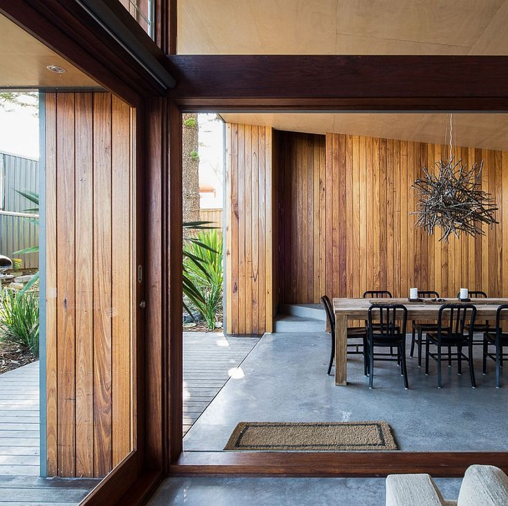 Interior clad in wood