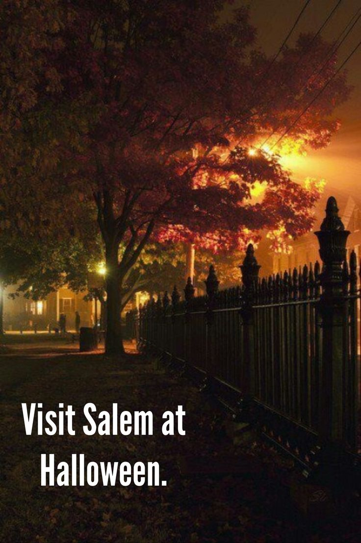 The Arena's Bucket List! ... visit Salem at Halloween. I have been during spring time but would love halloween time!