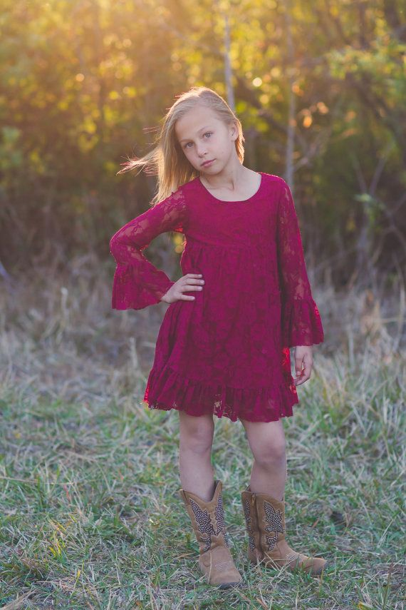 Hey, I found this really awesome Etsy listing at https://www.etsy.com/ca/listing/261496496/burgundy-long-sleeve-flower-girl-dresses