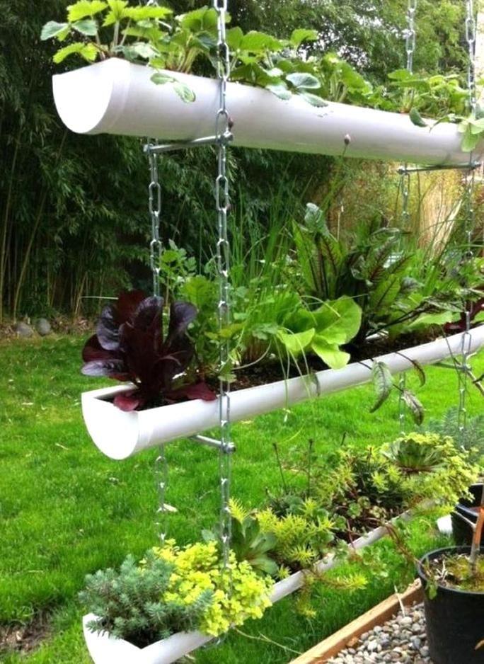 Rain Gutter Garden Float Valve A Frame Gutter Garden Free Standing Gutter Garden Diywork Gutter Garden In 2020 Small Garden Design Vertical Garden Diy Small Garden
