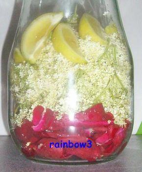 Rezept: Sirup: Rosen + Holunderblüten