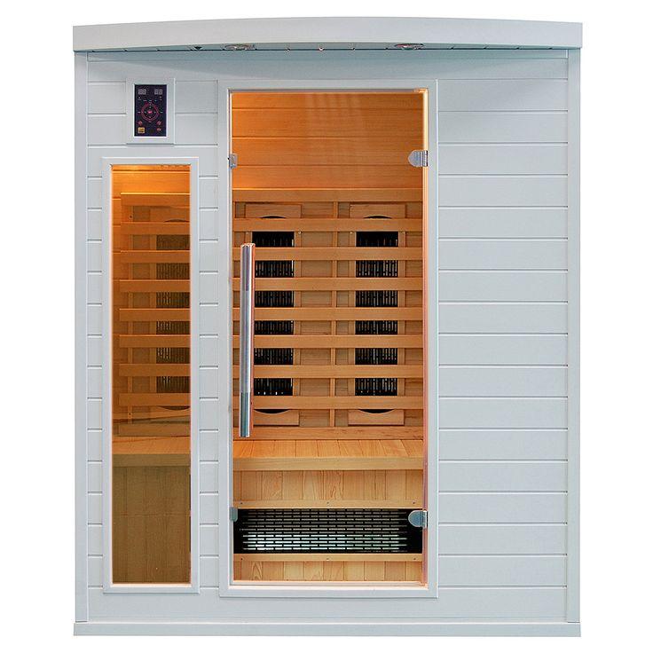 Idealna do niewielkich pomieszczeń sauna infrared dla 3 osób w kolorze białym. Świetny pomysł na...