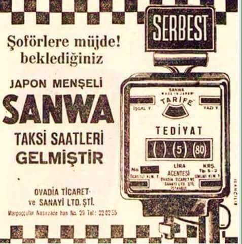 """Sanwa Taksi Saatleri"