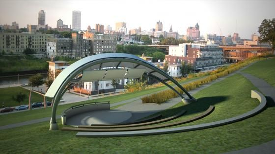 A Milwaukee amphitheater by HGA Architects and Engineers reinvests in a downtown park.