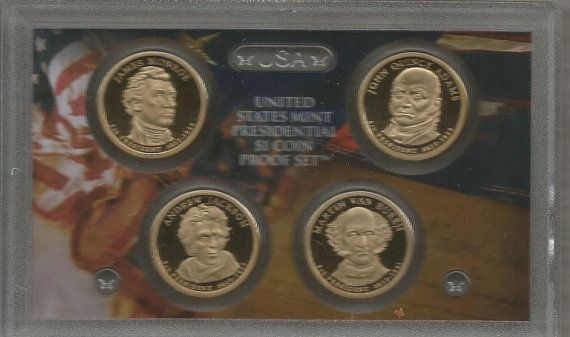 2008 President Dollar Proof Set, Mint Coin, Proof Coin, Dollar Coin