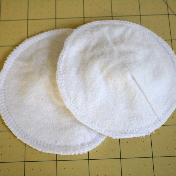 DIY Nursing Pads with darts sewn in. These are crazy easy to make and there is a printable pattern. I made 4 (so 2 sets) in about 10 minutes but I cut out enough to make 16 (8 sets) all in that time too. I did use one layer of flannel and one layer of PUL for my pads so we'll see how good they work tonight!