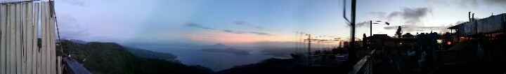 a panoramic view of taal volcano @ tagaytay