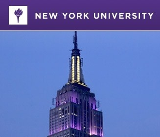Empire State Building is lit with purple lights every year for NYU graduation.