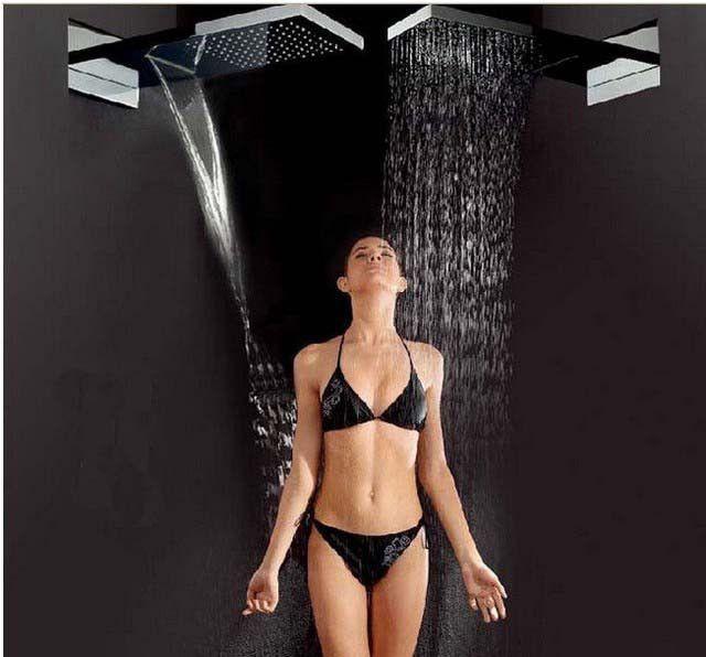 Rain Type Shower Head Bostonian Rainfall Nozzle Shower Head with