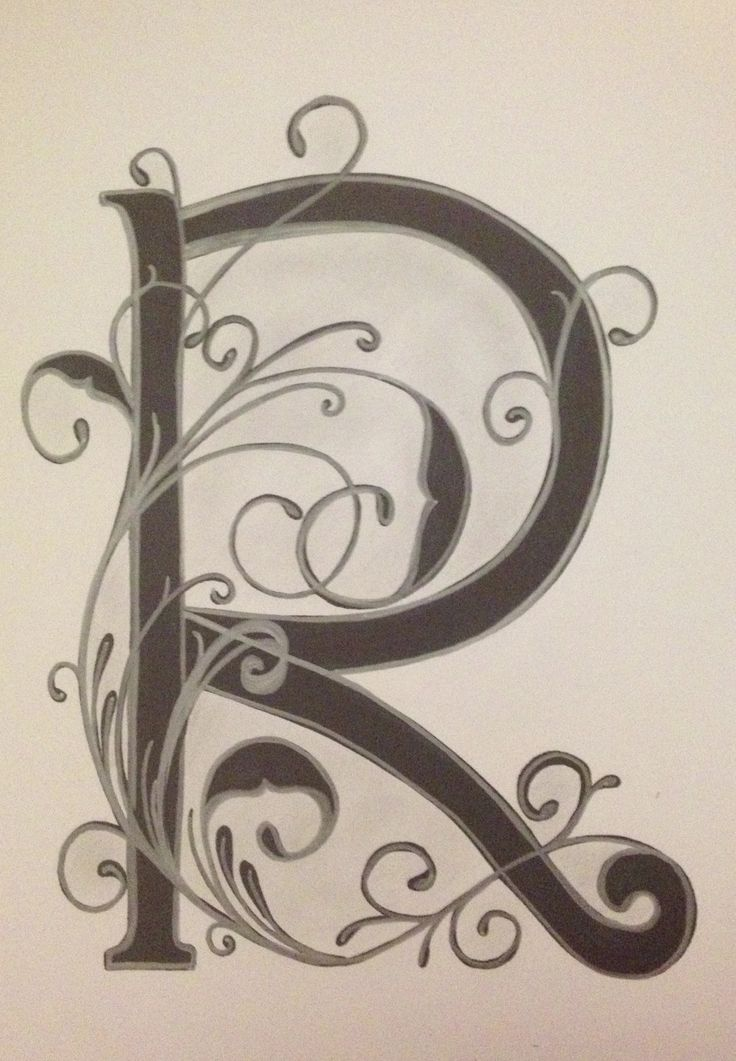 Letter R By Vera Art And Doodles Pinterest