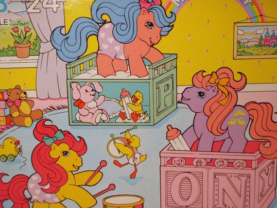My Little Pony Baby Drink and Wet Ponies Nursery Room G1 24 Piece Puzzle