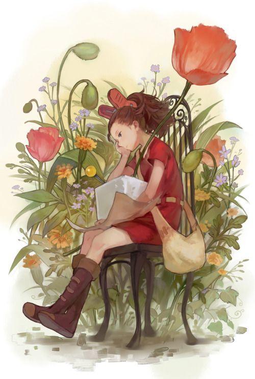 Arrietty the Borrower. I can't wait to see it! #miyazaki #thesecretworldofarriety