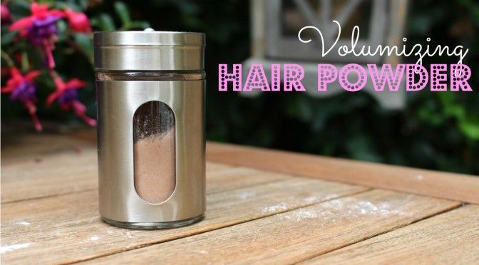 DIY Volumizing Hair Powder. All Natural!