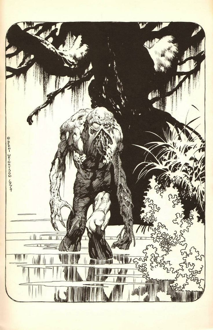 Bernie Wrightson's Swamp Thing. Cthulhu inspired. (Lovecraft)