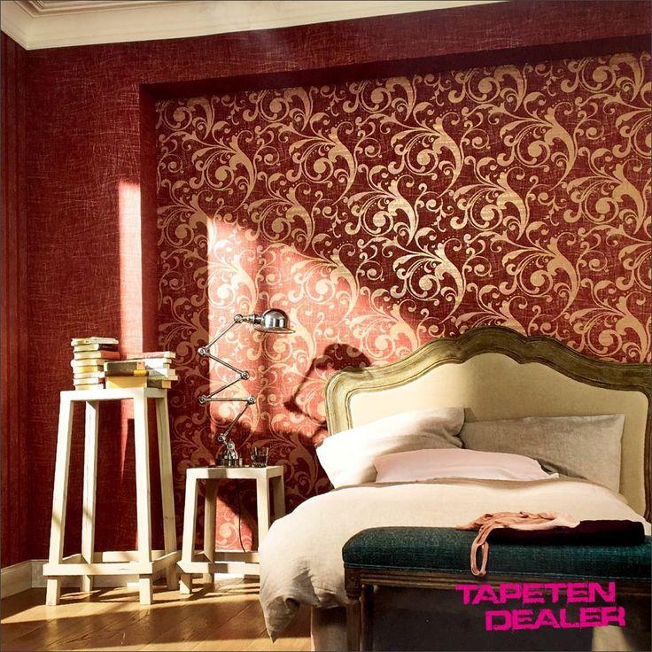 Wohnzimmer Rot Braun. sala de estar rojo pinterest. steinwand ...