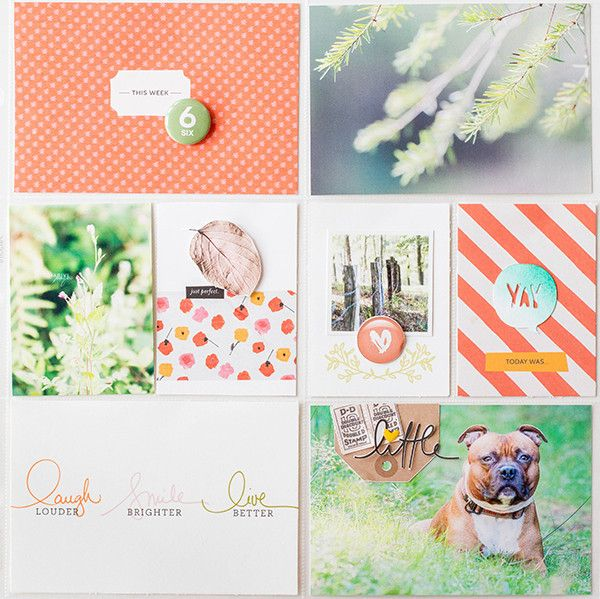 Loving the simplicity of this layout > Project life week 6 right by marivi at @studio_calico