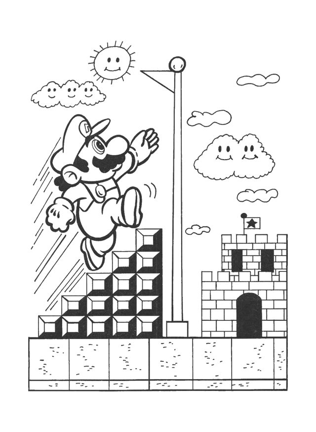 nintendo coloring pages free - photo #17