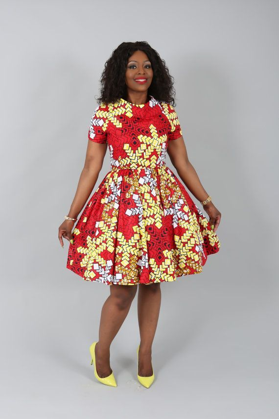 African clothing : NEW CHARRY dress handmade from by Nasbstitches