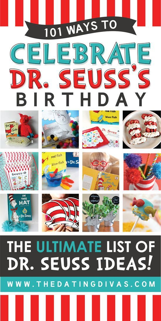 WOWZER! This is the ULTIMATE list of Dr. Seuss ideas! Activities, crafts, recipes, and printables! Perfect for celebrating Dr. Seuss's birthday this year! www.TheDatingDivas.com