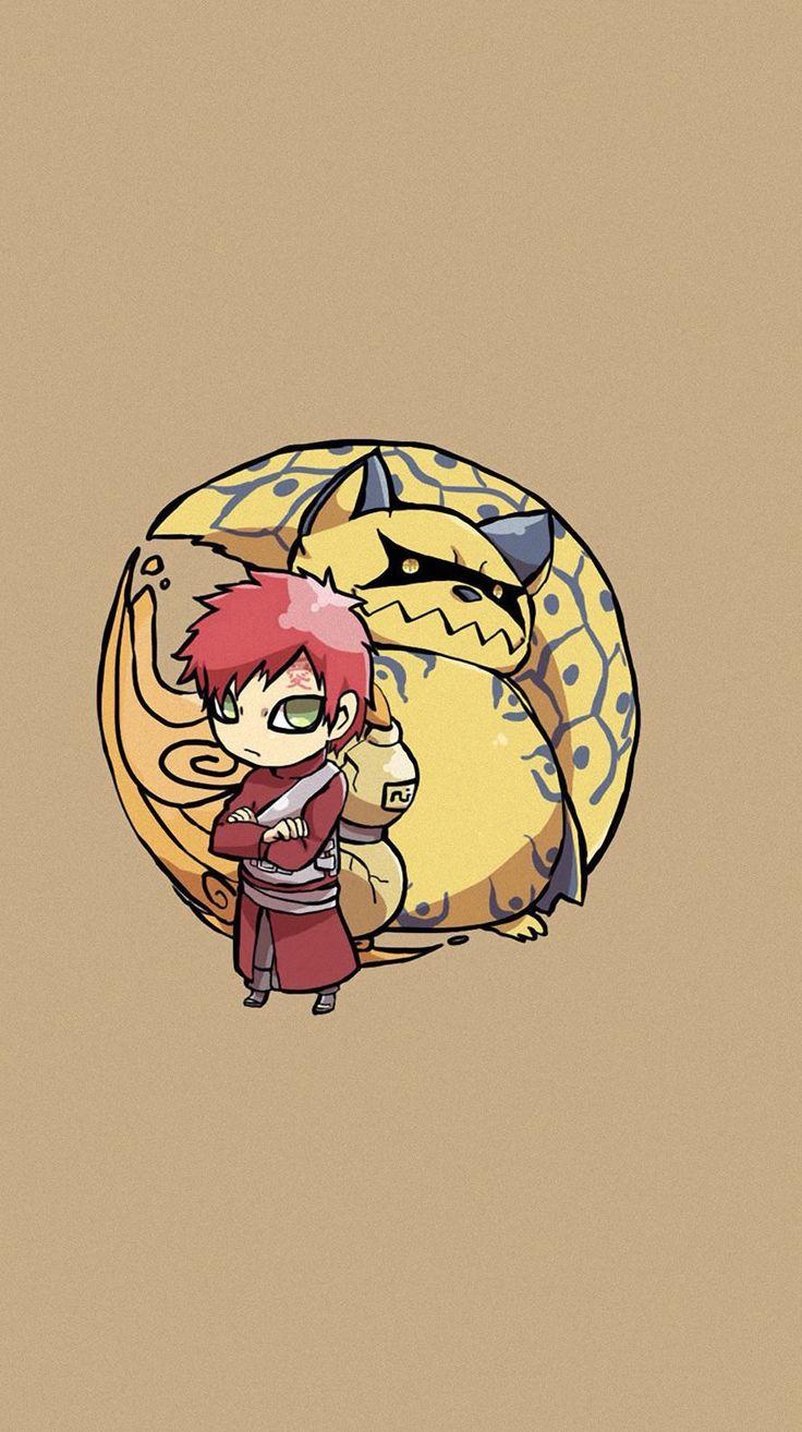 Gaara of the Desert and Shukaku the Sand Spirit and the One-Tail   Naruto shippuden characters ...