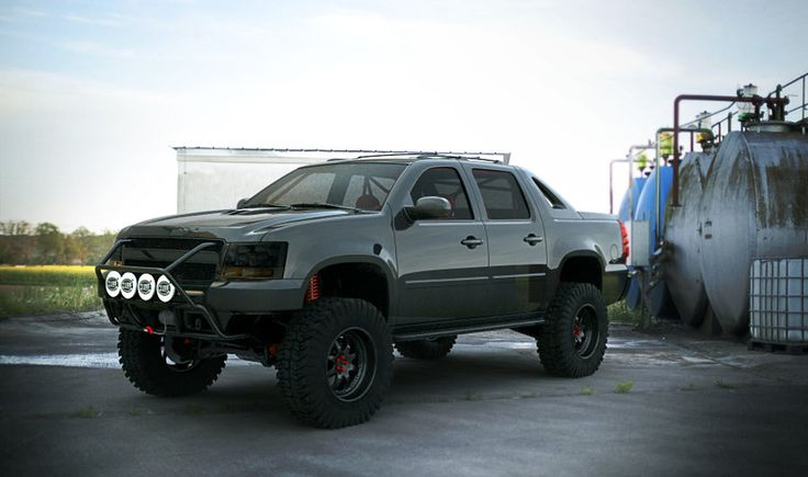 Chevy Avalanche (off road) outdoor by ~3dmanipulasi on deviantART
