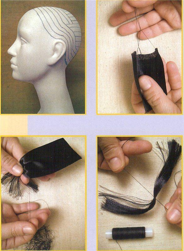 Делаем кукле волосы из распущенной шелковой ленты. Обсуждение на LiveInternet - Российский Сервис Онлайн-Дневников