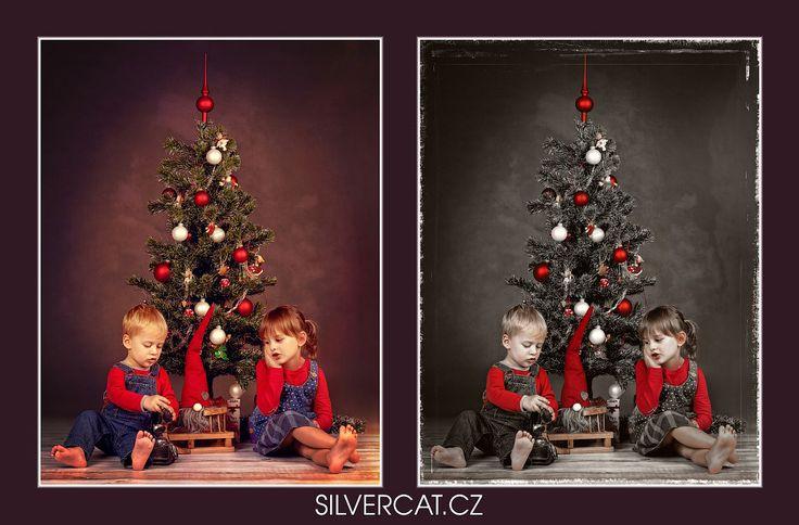 Fotky Dětí, Vánoční foceni, Děti pod vánoční stromeček, Focení Dětí, Obrázky Dětí, Foto Dětí, Fotografie Dětí, Fotoateliér SILVERCAT