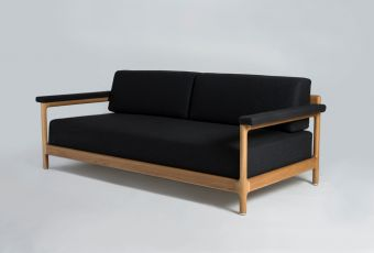 Sean Dix New Daybed code:DB9434Cdimensions:2060x945x765h(SH 410)  materials:Solid Wood Frame; Fabric or Leather Upholstery colours:American White Oak, American Walnut, Seat: Various Colours of Fabric or Leather Availablepackaging:1pc per Carton 2270x1050x720 m3 1.704m3 90kgDescription:Sean Dix New Daybed #OBODODESIGN #FURNITUREDESIGN #SENADIXDESIGN