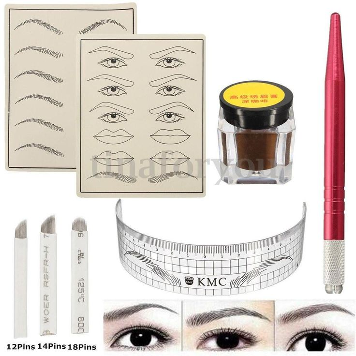 10/20Pcs Permanent Makeup Manual Eyebrow Tattoo Microblading Needles Round. Eyebrow practice skin size:App 19.5 14.5cm. Eyebrow pigment paste coffee size:App 2.4 2.8cm(D H). 2X Eyebrow practice skin. Suitable for Manual Eyebrow Tattoo.   eBay!