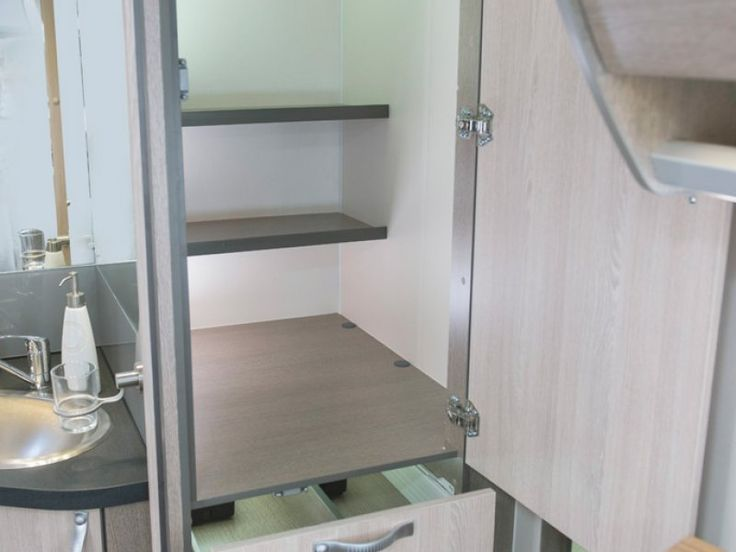 There's plenty of storage inside and out of the C7923SL Esperance motorhome.