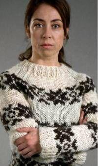 Sarah Lund in Gudrun & Gudrun sweater #forbrydelsen