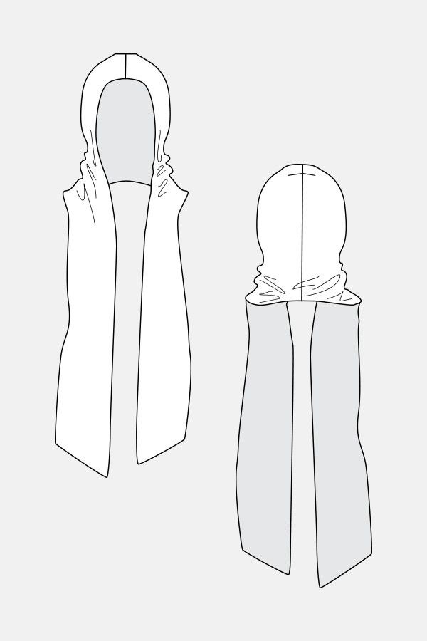 Nuna Hood Scarf sewing pattern | Named
