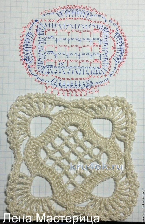 Ажурный жакет. Работа Светланы вязание и схемы вязания