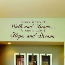 HOPES & DREAMS WALL STICKER QUOTE ART Home Vinyl Kitchen Bedroom Living Decal