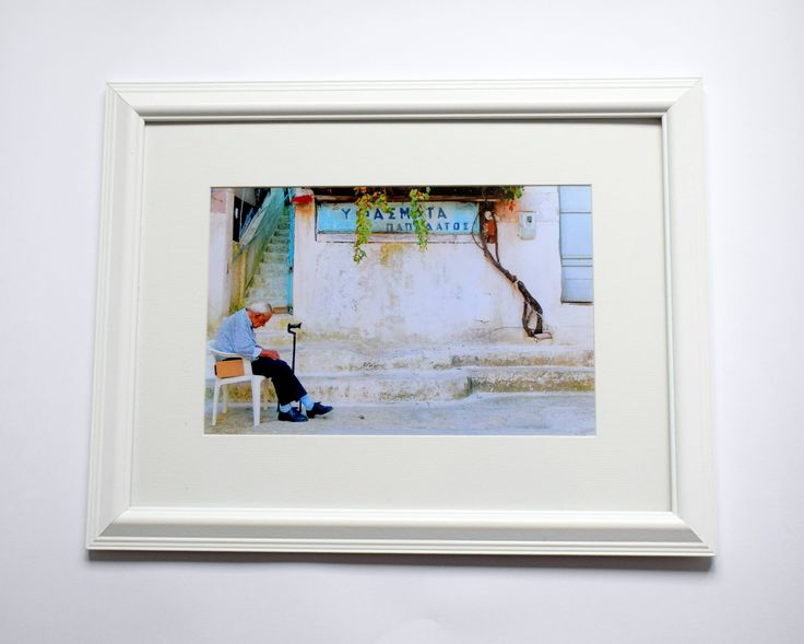 12x16 Framed Print Old Man, Street Photography, Flower Lovers, Wall Decor Art, Mediterranean Architecture by WanderlustStoreArt on Etsy