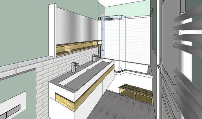17 meilleures id es propos de salle de bain 6m2 sur - Agencer une salle de bain ...