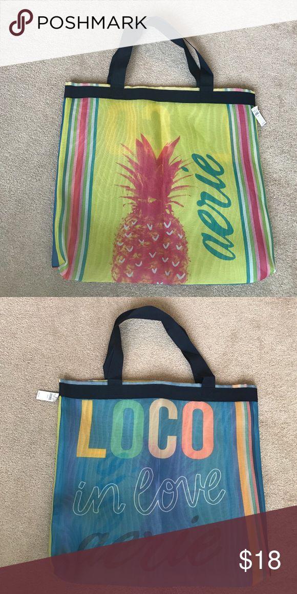 "NWT Aerie American Eagle Mesh Beach Tote Bag 21"" x 19"". Brand new mesh beach bag from America Eagle American Eagle Outfitters Bags"