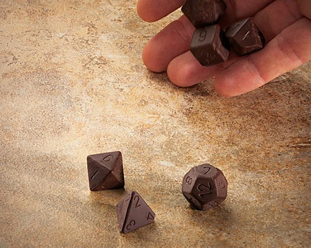 Chocolate Dice Set http://coolpile.com/home-stuff-magazine/chocolate-dice-set/ via @CoolPileCom $8 #chocolate #sweet